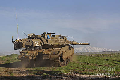 Armored Fighting Vehicles Photograph - An Israel Defense Force Merkava Mark Iv by Ofer Zidon