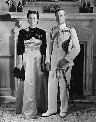 British Royalty Photograph - Duchess Of Windsor Wallis Simpson by Everett
