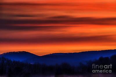 Sun Rays Digital Art - Red Sky At Morning by Thomas R Fletcher