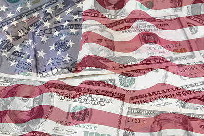 Usa Finance Print by Les Cunliffe