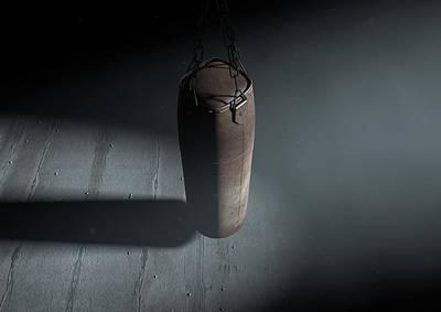 Vintage Leather Punching Bag Print by Allan Swart