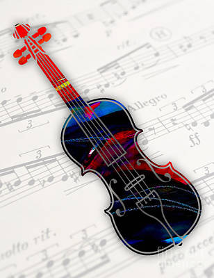 Violin Collection Print by Marvin Blaine