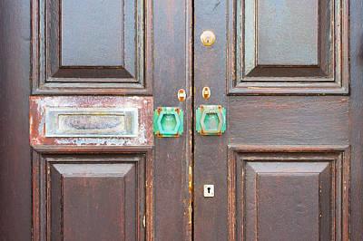 Mail Box Photograph - Wooden Door by Tom Gowanlock