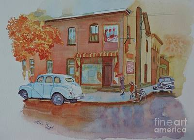 Canadiens Painting - 169 York Street Circa 1955 by Lise PICHE