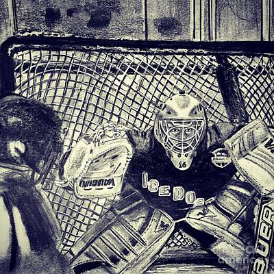 Youth Hockey Drawing - #16kennydoakjru18aa  by Gary Reising