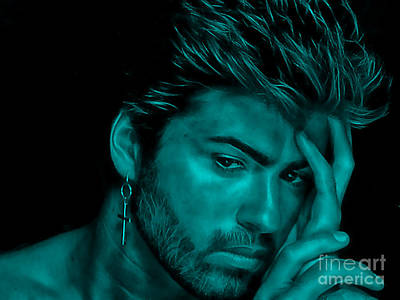 George Michael Collection Print by Marvin Blaine