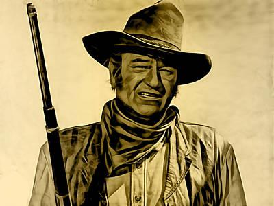 John Wayne Mixed Media - John Wayne Collection by Marvin Blaine