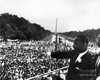 Washington Monument Photograph - Martin Luther King, Jr by Granger
