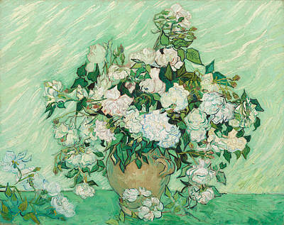 Vase Painting - Roses by Vincent van Gogh