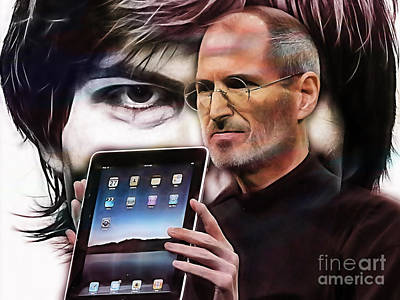 Apples Mixed Media - Steve Jobs Collection by Marvin Blaine