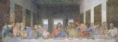 Disciples Painting - The Last Supper by Leonardo Da Vinci