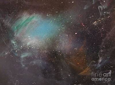 Outer Space Painting - 170,000 Light Years From Home by Lorraine Centrella