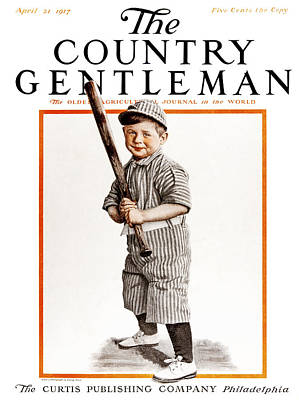 Baseball Uniform Photograph - Cover Of Country Gentleman Agricultural by Remsberg Inc