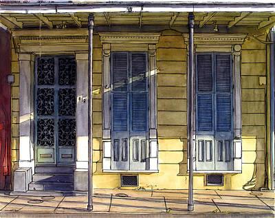 176 French Quarter House With Ornate Door Original by John Boles