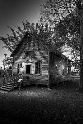 Benches Photograph - 1800's Florida Church by Marvin Spates