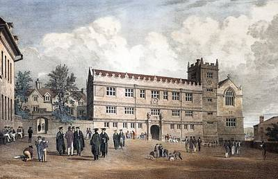 1818 Darwin's Shrewsbury School Print by Paul D Stewart