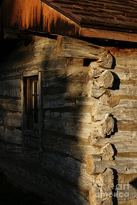 Cabin Window Photograph - 1854 by Linda Shafer