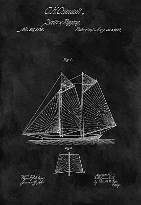 1869 Sailing Vessel Patent Print by Dan Sproul