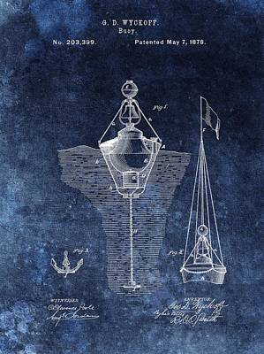 Navigation Mixed Media - 1878 Buoy Patent by Dan Sproul
