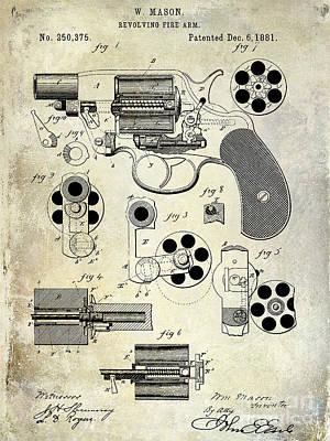 1881 Revolver Patent  Print by Jon Neidert