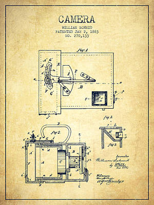 1883 Camera Patent - Vintage Print by Aged Pixel