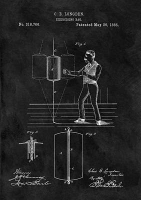 Boxer Mixed Media - 1885 Boxing Bag Patent by Dan Sproul