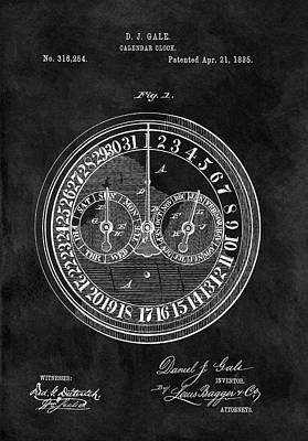Calendars Mixed Media - 1885 Calendar Clock by Dan Sproul