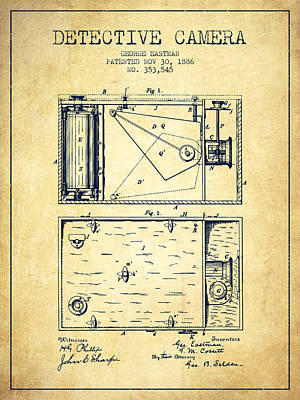 1886 Detective Camera Patent - Vintage Print by Aged Pixel