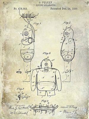 1889 Diving Apparatus  Print by Jon Neidert