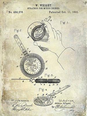 1892 Cocktail Mixer Print by Jon Neidert