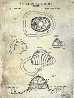 1897 Firemans Hemet Patent Print by Jon Neidert