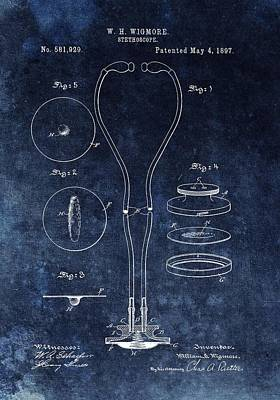 1897 Stethoscope Patent Print by Dan Sproul