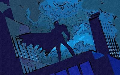Batman Digital Art - Cartoon Batman Print by Egor Vysockiy