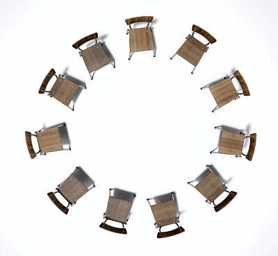 Speak Digital Art - Group Therapy Chairs by Allan Swart