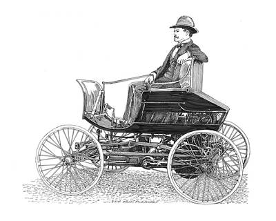 Horseless Carriages Drawing - 1903 Haynes Pioneer by Jack Pumphrey