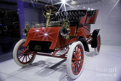 1903 Model A Ford Print by Timothy Hacker