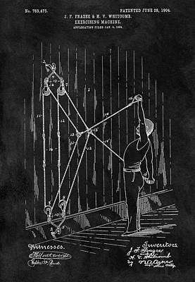 1904 Exercise Apparatus Patent Print by Dan Sproul