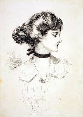 Choker Photograph - 1909 Drawing By Charles Dana Gibson by Everett