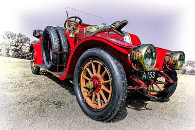 Brass Snake Photograph - 1909 Renault A1 Torpedo by Marcia Colelli