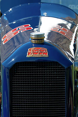 Hoodie Photograph - 1914 Peugeot L45 Emblem by Jill Reger
