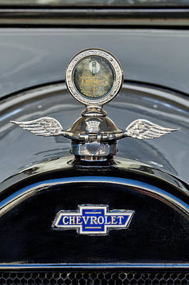 Hoodie Photograph - 1915 Chevrolet Touring Hood Ornament 2 by Jill Reger