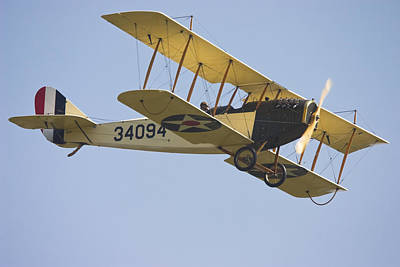 1917 Curtiss Jn-4d Jenny Flying Canvas Photo Poster Print Print by Keith Webber Jr