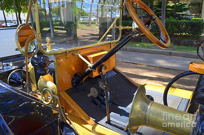 Photograph - 1918 Ford Model T Dash by Mary Deal