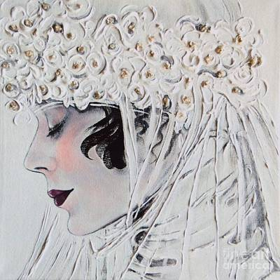 Alluring Painting - 1920s Bride by Barbara Chase