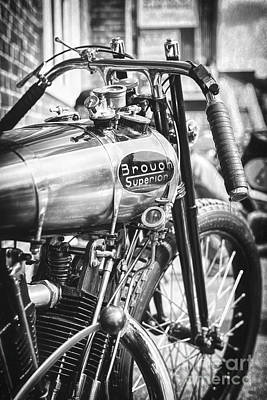 Photograph - 1924 Brough Superior Ktor Racer by Tim Gainey
