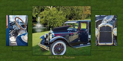 Duchess Digital Art - 1924 Buick Duchess Antique Vintage Photograph Fine Art Prints 119    by M K  Miller