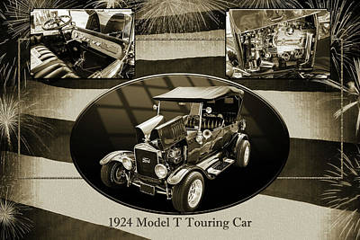 1924 Ford Model T Touring Hot Rod 5509.200 Print by M K  Miller