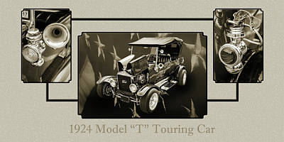 1924 Ford Model T Touring Hot Rod 5509.201 Print by M K  Miller