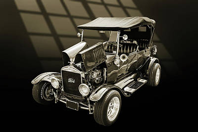 1924 Ford Model T Touring Hot Rod 5509.203 Print by M K  Miller