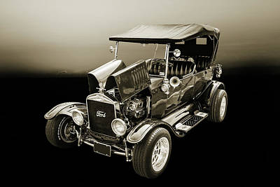 1924 Ford Model T Touring Hot Rod 5509.204 Print by M K  Miller